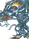 Tattoo Flash Design of Dragons & Phoenixes