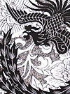 Tribal Tattoo Designs of Dragon & Phoenix